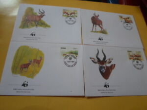 Ghana 1984 Wwf Antelope Bongo 4 FDC First Day Covers