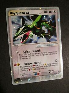 PL (creases) Pokemon RAYQUAZA EX Card DRAGON Set 97/97 Ultra Rare Holo PLAYED AP
