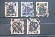 German Stamps. 1920 DANZIG SET. USED.