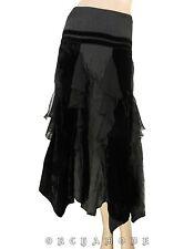 Jupe Longue MULTIPLES créateur T 40 L 3 Ample Volants Soirée Skirt Rock falda