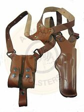 Armadillo Tan Leather Vertical Shoulder Holster for railed 1911 P2VR-1911