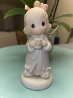 1997 Precious Moments Figurine Thank You For The Time We Share #1 Mom #384836