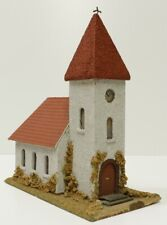 635DM HO Vecchia chiesa montata dipinta e illuminata scala 1:87