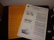 Daimler and Lancaster Owners Club leaflets 1979