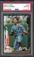 2020 Topps #250 BRYCE HARPER Philadelphia Phillies PSA 10 GEM MINT