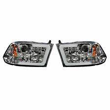 RECON 264270CLC Dodge Ram 09-14 1500  2500  3500 Clear-Chrome Headlights
