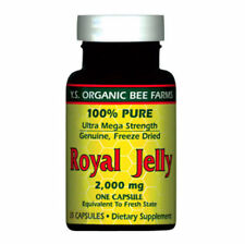 100% Pure Freeze Dried Fresh Royal Jelly - 2000 mg YS Eco Bee Farms 35 Caps