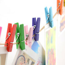 100pcs Mini Wooden Pegs Clothes Pins Photo Paper Peg Clothespin Craft Clips Hot