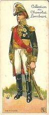 Chromo Lombart Gloire et costumes militaires 100 Berthier soldat armée Napoléon