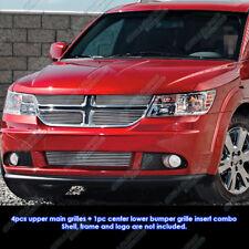 Fits 2011-2013 Dodge Journey Billet Grille Grill Insert Combo
