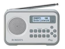Roberts Radio Play DAB/DAB+/FM Portable Radio - White/Grey
