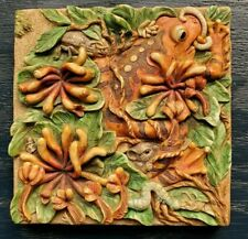 Harmony Kingdom Tile, A Frogs Life - Byron's Secret Garden Picturesque Art Bugs