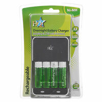 AA Or AAA Over Night Battery Charger 2700 mah High Power Rechargeable Batteries