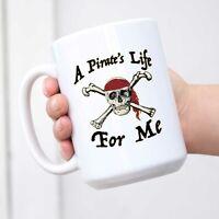 A Pirates Life for Me Halloween Costume Skull Ceramic Coffee Mug Tea Cup Fun Nov