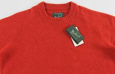 Men's WOOLRICH Orange Wool Crewneck Sweater L Large NWT NEW Nice!