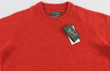 Men's WOOLRICH Orange Wool Crewneck Sweater XL Extra Large NWT NEW Nice!