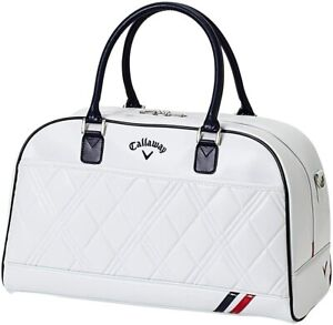 Callaway Boston Bag PU SPORT Ladies 2021 Model White Navy Synthetic Leather