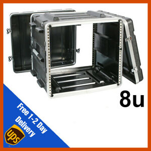 ABS Rack Case   8u   Flight Case   Equipment Case   DJ Case   Amp Case   PA