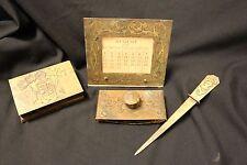 Vintage Silver Crest Bronze Desk Set  2228 Art Nouveau