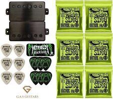 EMG JH Set James Hetfield Brushed Black Chrome Floyd Spaced (30 PICKS & REGULAR)