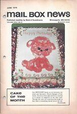Vintage Cake Magazine Mail Box News June 1978 Maid of Scandinavia