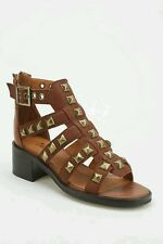 Urban Outfitters Lars Square-Stud Caged Sandal Tan  Size 38