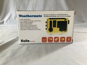 New Kaito KA-001 Pocket Crank Powered AM/FM/NOAA Weatherband Radio - NOS