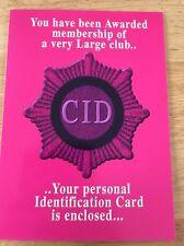 6 Biglietti Di Compleanno Divertente-CID-Cake, invece di Dieta-Polizia