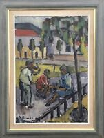 Niels Sewerin - Expressive - City View with People - 32 11/16X24 13/16in Sweden