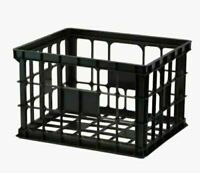 Style Selections Plastics Crates 17-in W x 11-in H x 14-in D Black Milk Crate