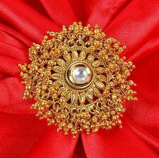 RN-671 Indian Bollywood Design Kundan Adjustable Polki Ring Women Jewellery