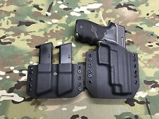 Black Kydex SIG P226R Combat Holster w/Matching Mag Carrier