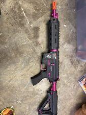 G&G CM16 Combat Machine Raider AEG Airsoft Gun - Black & Pink (used)