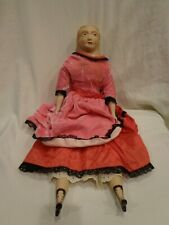Vintage 1969 Camilla Doll by Doris Bisque Head Arms & Lower Legs Victorian Dress