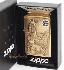 New Full Size Zippo Dare Eagles Eagle Brass Windproof Lighter Made In USA