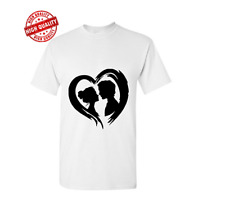 LOVELY COUPLE Cotton T-shirt Beautiful White