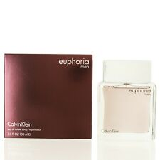 Euphoria For Men By Calvin Klein Eau De Toilette Spray 3.4 Oz-Novo Na Caixa