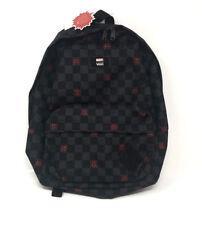 a6cd1db145 Vans Marvel Backpack Spiderman Old Skool II School Bag Spidey Black Check  New