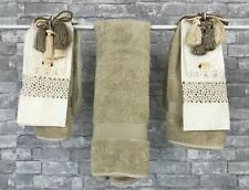 New Austin Horn Collection Yves Delorme Linen Cotton Decorative 7 Hand Towels