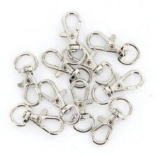 10Stk  Schwenk Karabinerhaken Haken Schlüsselanhänger gut Silber.