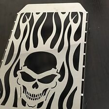 Skull Flame Radiator Grille Cover Guard Protector For Kawasaki Vulcan VN 1500