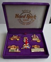 Hard Rock Cafe 2002 QUEEN ROYAL GOLDEN JUBILEE 5 x Pin Badge Box Set LE200