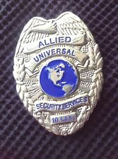 Vintage Allied Universal Security Services Shield Badge - Free Shipping