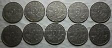 Canada 1922-1936 5 Cents Set Of 10 Different Dates, Circulated