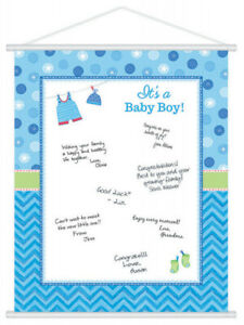 Baby Shower Guest Book Wishes Its A Boy Memory Keepsake Party Games