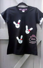 OOAK Gothic Kawaii Creepy Cute Visual Kei Bunnys T-shirt Size M/L Halloween