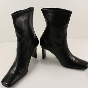 "Karen Scott Ankle Boots 3"" Heel Stretch Slipon Black Baron Sz 8M Shoe"