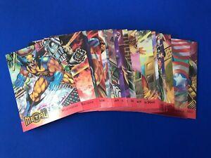 1995 Fleer Marvel Metal Foil Red Blaster Complete Insert Chase Set 18 Cards
