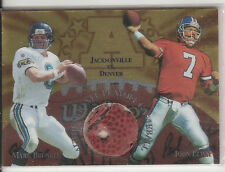 1997 COLLECTOR'S EDGE MASTERS PLAYOFF NFL GAME BALL JOHN ELWAY & MARK BRUNELL #6