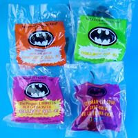 McDonald's Batman 1992 Complete Vintage Set of 4 MIP Happy Meal Toys